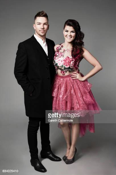 Matt Terry and Saara Aalto attend the National Television Awards Portrait Studio at The O2 Arena on January 25 2017 in London England