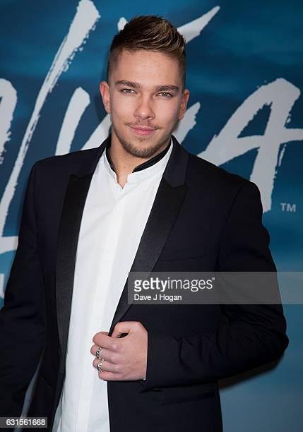 Matt Terry attends the blue carpet of the Cirque du Soleil Amaluna press night on January 12 2017 in London United Kingdom