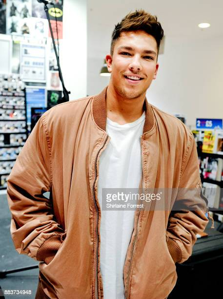 Matt Terry performs live and signs copies of his debut album 'Trouble' for fans at HMV Manchester on November 29 2017 in Manchester England