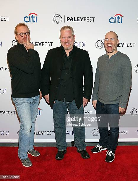 Matt Thompson Adam Reed and Casey Willis attend 2nd Annual Paleyfest New York Presents Archer at Paley Center For Media on October 12 2014 in New...
