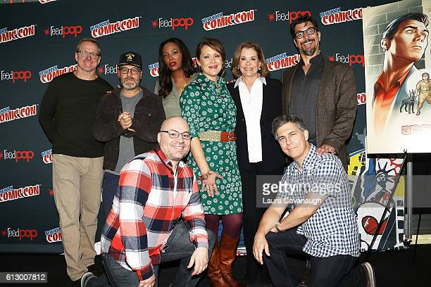 Matt Thompson H Jon Benjamin Casey Willis Aisha Tyler Amber Nash Jessica Walter Lucky Yates and Chris Parnell attends 2016 New York Comic Con Day 1...