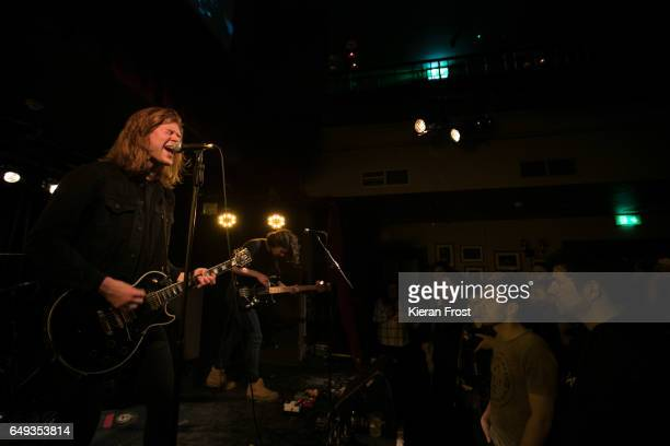 Matt Thomson and Elliot Briggs of The Amazons perform at Whelan's on March 7 2017 in Dublin Ireland