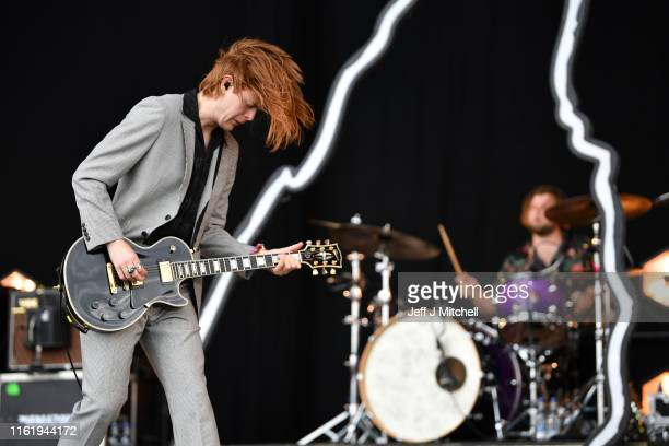 Matt Thomson of The Amazons performs on the main stage during the TRNSMT Festival at Glasgow Green on July 14, 2019 in Glasgow, Scotland. A sold out...