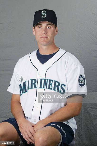 Matt Thorton of the Seattle Mariners poses for a photo during Team Photo Day at the Mariners Spring Training in Peoria, Az. Digital Photo. Photo by...