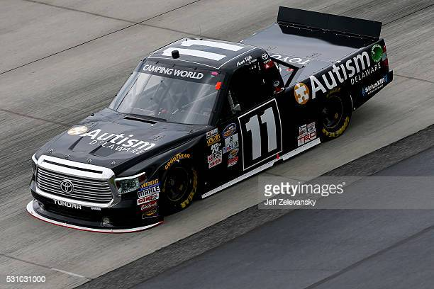 Matt Tifft driver of the Toyota practices for the NASCAR Camping World Truck Series at Dover International Speedway on May 12 2016 in Dover Delaware