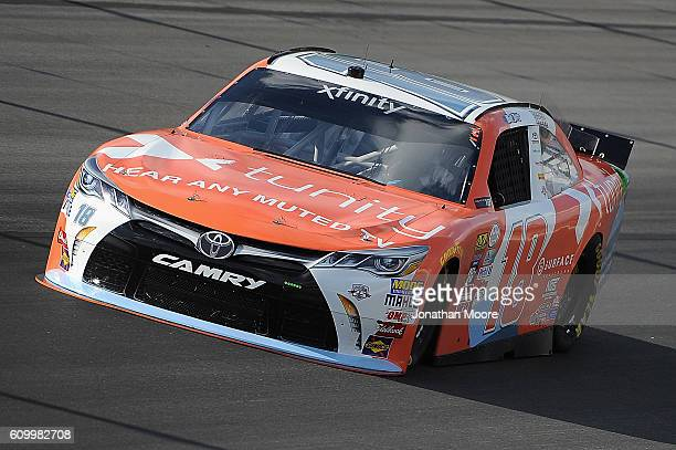 Matt Tifft driver of the Tunity Toyota on track during practice for the NASCAR XFINITY Series VysitMyrtleBeachcom 300 at Kentucky Speedway on...
