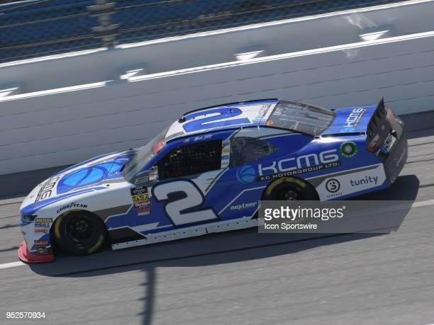 Matt Tifft Richard Childress Racing Chevrolet Camaro KCMG races through the tripoval during the NASCAR Xfinity Series Sparks Energy 300 on April 28...