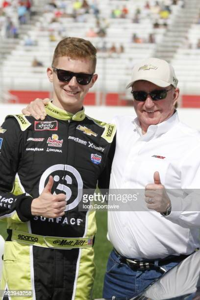 Matt Tifft Richard Childress Racing Surface Sunscreen Chevrolet Camaro with car owner Richard Childress during the running of the 27th annual Rinnai...
