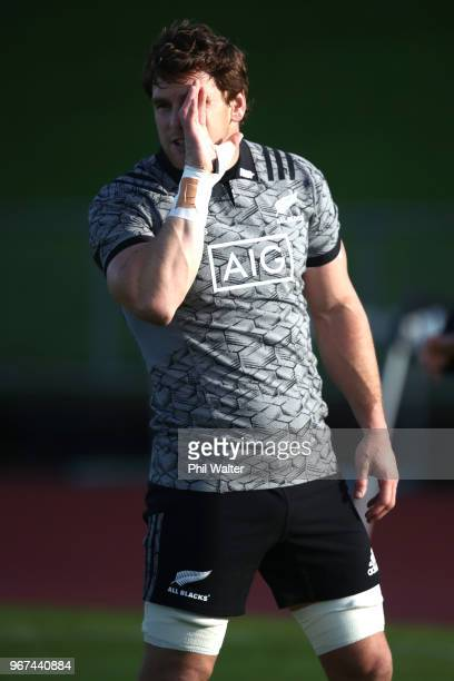 Matt Todd of the All Blacks during a New Zealand All Blacks training session on June 5 2018 in Auckland New Zealand