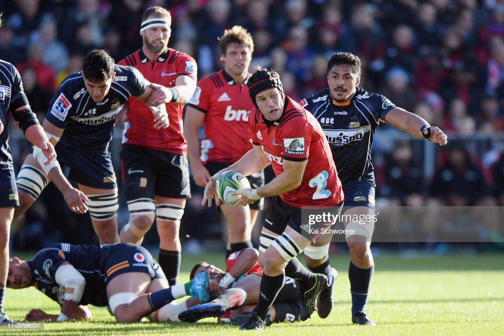 Super Rugby Rd 8 - Crusaders v Brumbies : News Photo