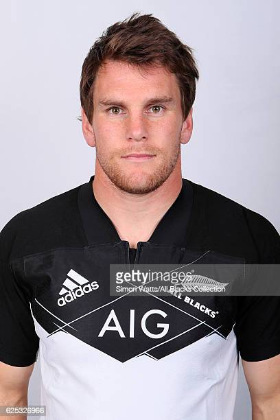Matt Todd poses during the All Blacks End of Year Tour 2016 Headshots Session at Auckland International Airport Novotel on October 28 2016 in...