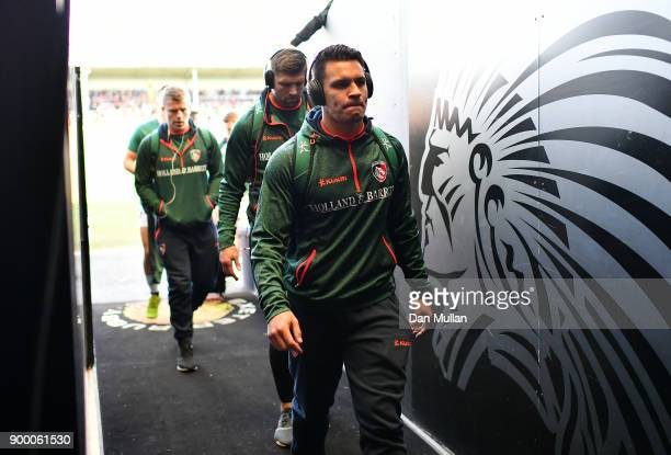 Matt Toomua of Leicester Tigers arrives at the ground prior to the Aviva Premiership match between Exeter Chiefs and Leicester Tigers at Sandy Park...