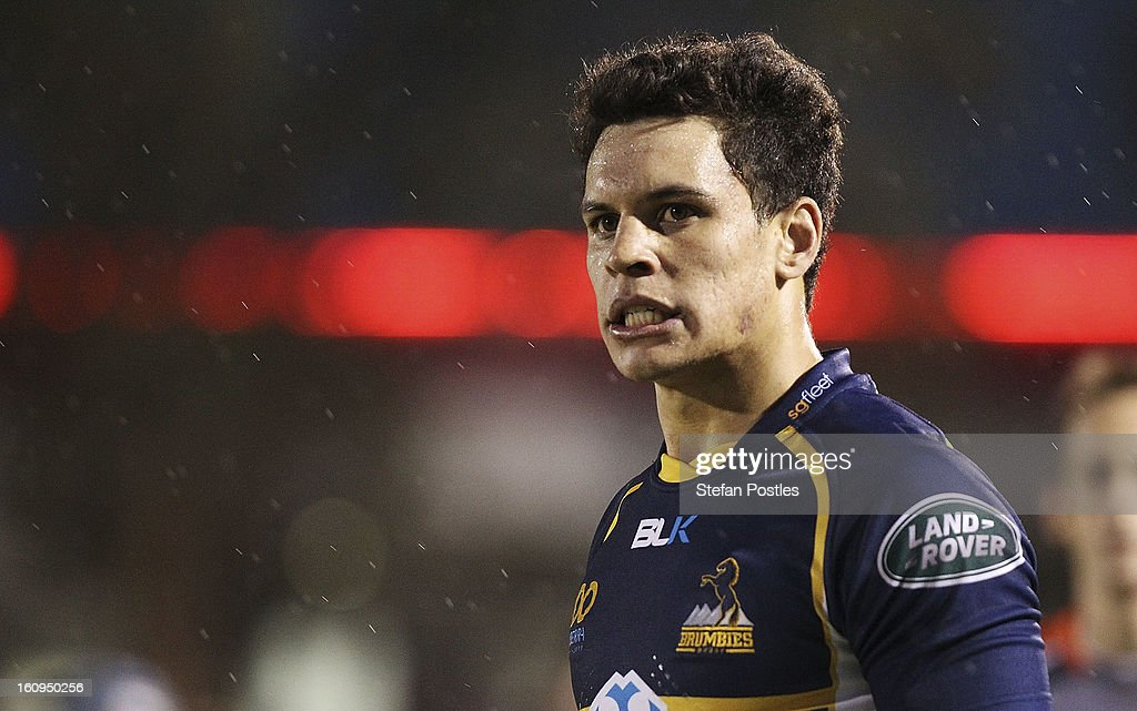 Matt Toomua of the Brumbies during the Super Rugby trial match between the Brumbies and the ACT XV at Viking Park on February 8, 2013 in Canberra, Australia.
