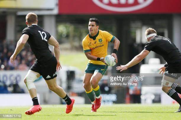 Matt Toomua of the Wallabies makes a run during the Bledisloe Cup match between the New Zealand All Blacks and the Australian Wallabies at Eden Park...