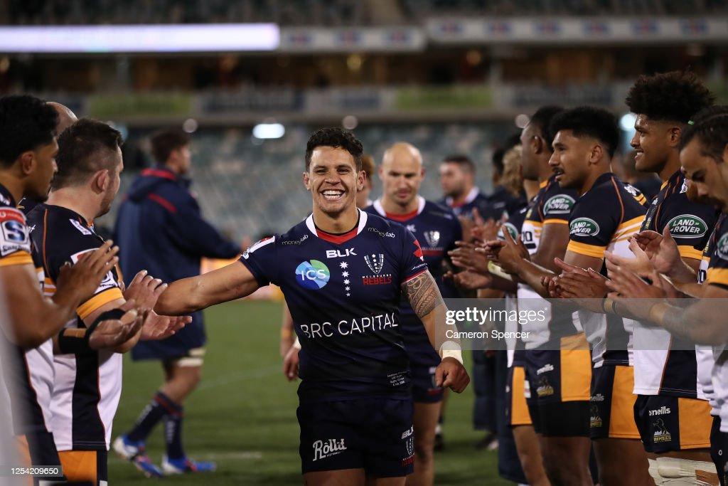 Super Rugby AU Rd 1 - Brumbies v Rebels : News Photo