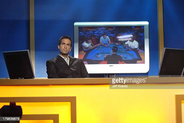 Matt Vasgerian during Celebrity Blackjack Matt Vasgersian hosts Celebrity Blackjack a one hour weekly tournament featuring 40 stars competing for a...