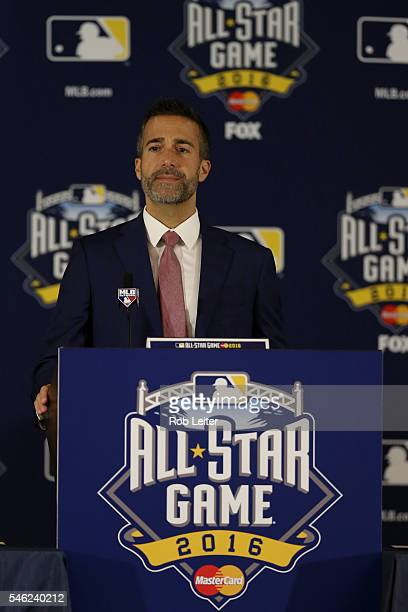 Matt Vasgersian speaks during AllStar Press conference at the Manchester Grand Hyatt on Monday July 11 2016 in San Diego California