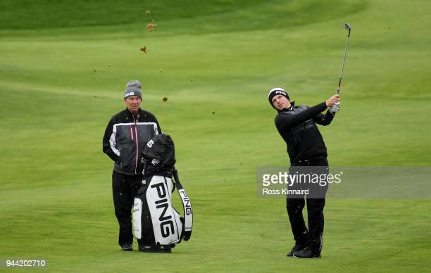 Matt Wallace of England in action during a practice round prior to the Open de Espana at Centro Nacional de Golf on April 10 2018 in Madrid Spain