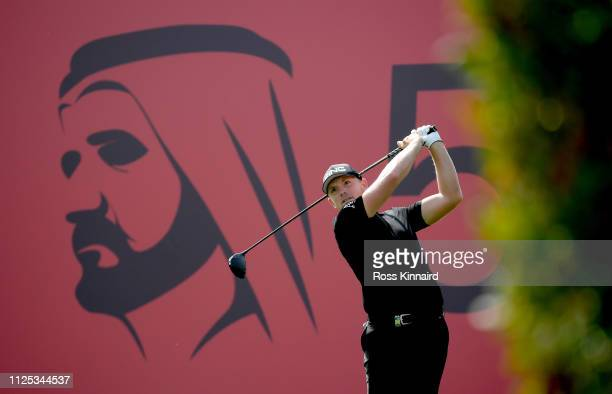 Matt Wallace of England in action during the final round of the Omega Dubai Desert Classic at Emirates Golf Club on January 27 2019 in Dubai United...