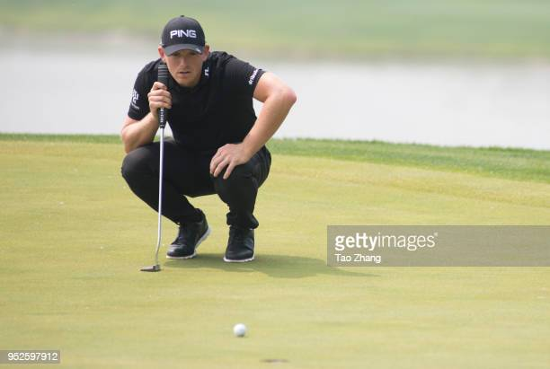 Matt wallace of England looks on during the four day of the 2018 Volvo China open at Beijing Huairou Topwin Golf and Country Club on April 29 2018 in...