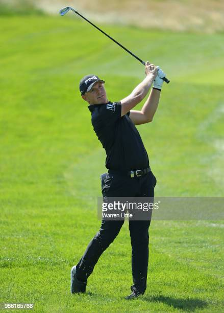 Matt Wallace of England on the 10th hole during the first round of the HNA Open de France at Le Golf National on June 28 2018 in Paris France