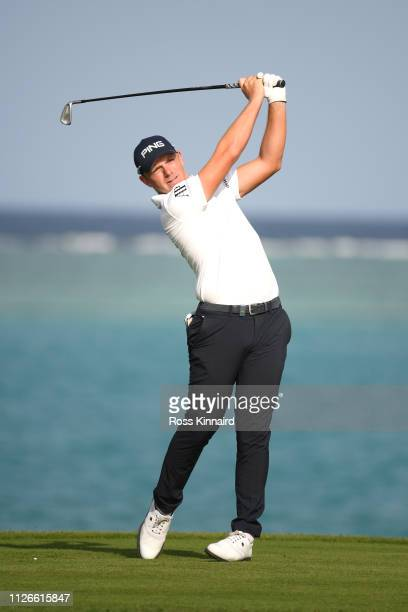 Matt Wallace of England on the 17th hole during Day two of the Saudi International at the Royal Greens Golf Country Club on February 01 2019 in King...
