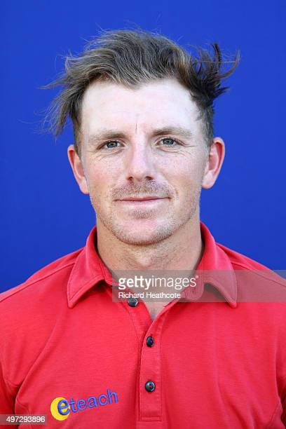 Matt Wallace of England poses for a portrait after the second round of the European Tour Qualifying School Final at PGA Catalunya Resort on November...