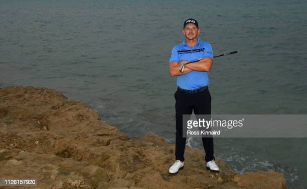 Matt Wallace of England poses for a portrait during the proam event prior to the Saudi International at the Royal Greens Golf Country Club on January...