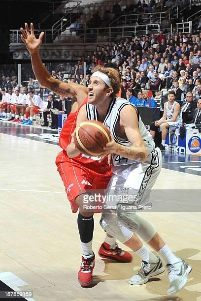 Matt Walsh of Granarolo in action during the LegaBasket Serie A match between Granarolo Bologna and Emporio Armani EA7 Milano at Unipol Arena on...