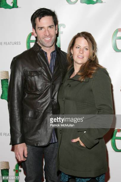 Matt Walton and Alecia Hurst attend MUSICAL ELF BROADWAY OPENING NIGHT at Al Hirschfeld Theatre on November 14 2010 in New York City