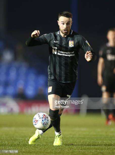 Matt Warburton of Northampton Town in action during the Leasingcom Trophy match between Portsmouth and Northampton Town at Fratton Park on December...