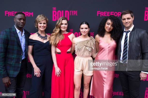 Matt Ward Melora Hardin Meghann Fahy Katie Stevens Aisha Dee and Sam Page attend 'The Bold Type' New York Premiere at The Roxy Hotel on June 22 2017...