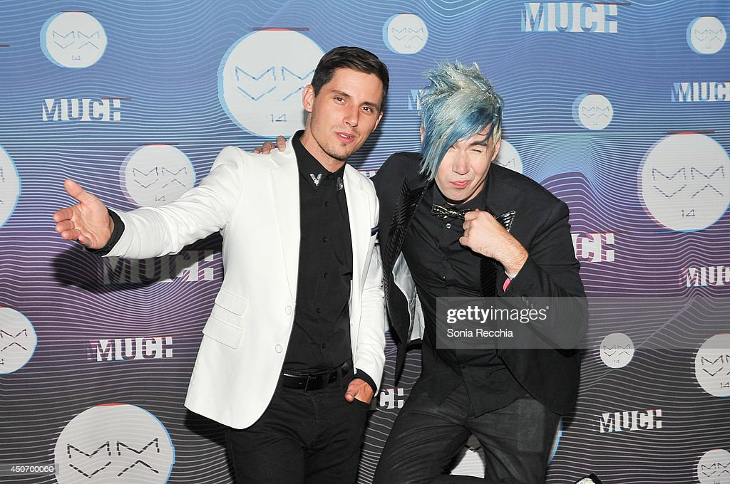 Matt Webb and Josh Ramsey of Marianas Trench pose in the press room at the 2014 MuchMusic Video Awards at MuchMusic HQ on June 15, 2014 in Toronto, Canada.