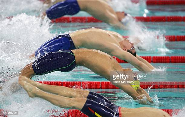 Matt Welsh of Australia competes in the Men's 200m backstroke heats during day five of the FINA World Swimming Championships held at Qi Zhong Stadium...