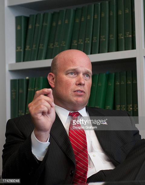 Matt Whitaker Iowa is interviewed at Roll Call office in Washington DC