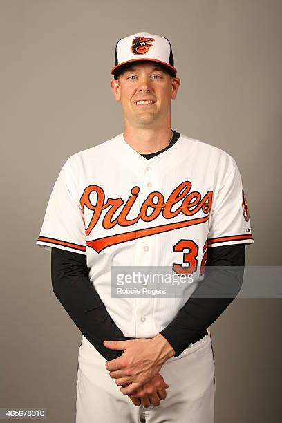 Matt Wieters of the Baltimore Orioles poses during Photo Day on Sunday March 1 2015 at Ed Smith Stadium in Sarasota Florida