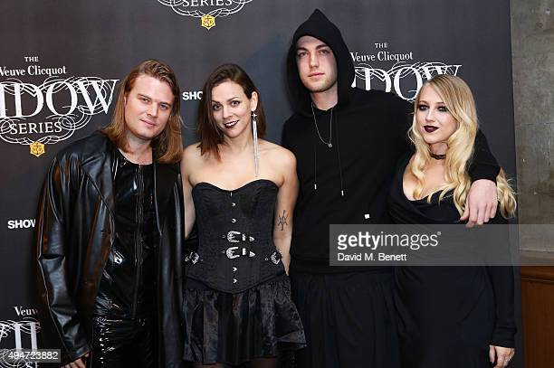 Matt Williams Jen Williams Calum Knight and Emily Knight attend the Veuve Clicquot Widow Series A Beautiful Darkness curated by Nick Knight and...