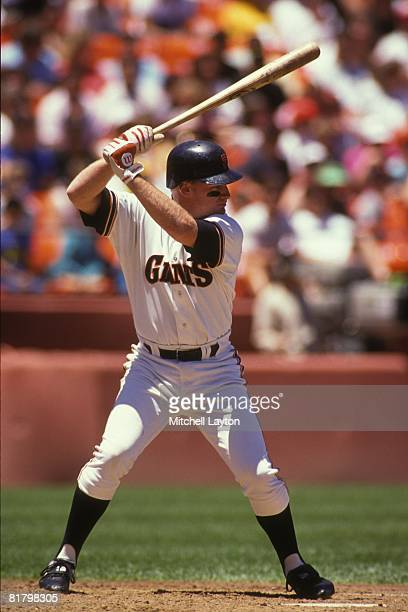 Matt Williams of the San Francisco Giants batsl during a baseball game on June 1 1990 at Candlestick Park in San Francisco California