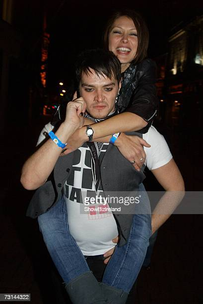 Matt Willis and Emma Griffiths attend the 2007 Childline concert at The Point theatre on January 28 2007 in Dublin Ireland