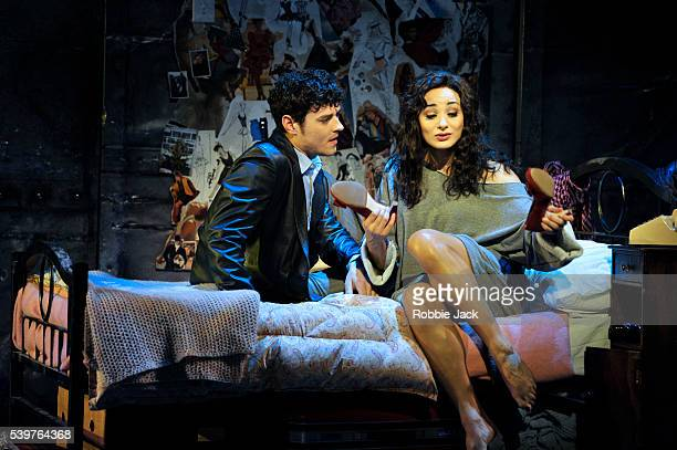 Matt Willis as Nick Hurley and Victoria HamiltonBarritt as Alex Owens in the production Flashdance' choreographed by Arlene Phillips and directed by...