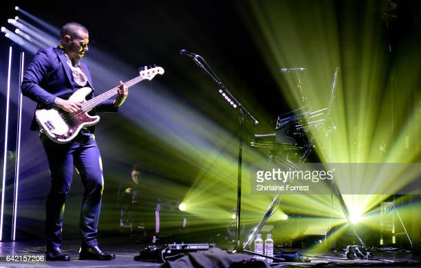 Matt Willis of Busted performs at O2 Apollo Manchester on February 16 2017 in Manchester United Kingdom
