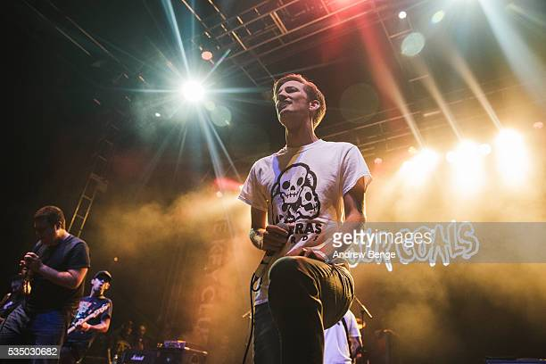 Matt Wilson of Set Your Goals performs on stage during Slam Dunk Festival at O2 Academy on May 28 2016 in Leeds England