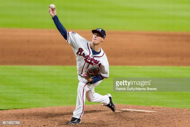 Matt Wisler of the Atlanta Braves pitches against the New York Mets at SunTrust Park on May 3 2017 in Atlanta Georgia The Mets won 165
