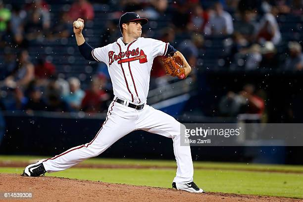 Matt Wisler of the Atlanta Braves pitches during the game against the Milwaukee Brewers at Turner Field on May 26 2016 in Atlanta Georgia