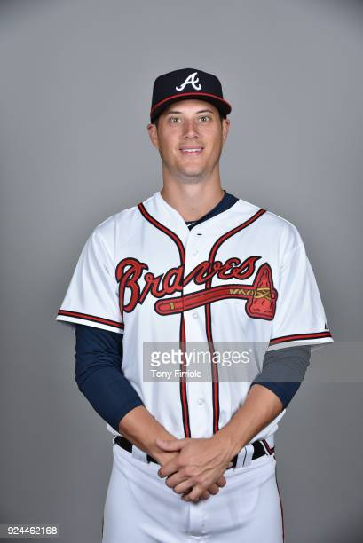 Matt Wisler of the Atlanta Braves poses during Photo Day on Thursday February 22 2018 at Champion Stadium in Lake Buena Vista Florida