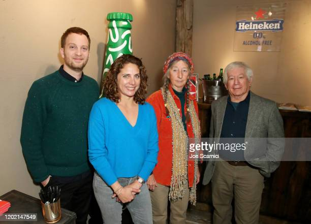 Matt Wolf Stacey Reiss Linda Leigh and Mark Nelson of Spaceship Earth stop by TheWrap Studio sponsored by Heineken at Sundance Film Festival on...