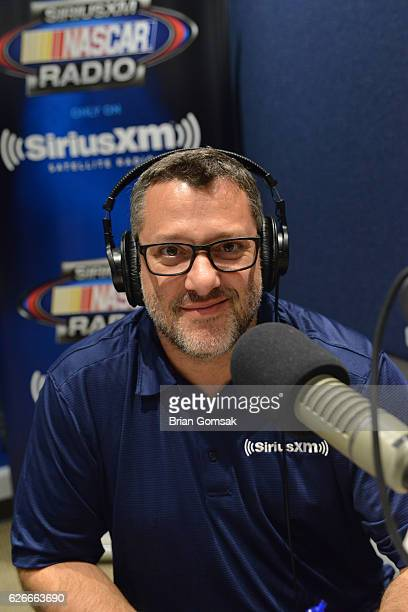 Matt Yocum and Tony Stewart attend SiriusXM's Tony Stewart Show at Motor Racing Network on November 29 2016 in Charlotte North Carolina
