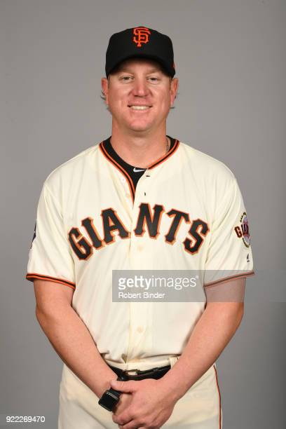 Matt Yourkin of the San Francisco Giants poses during Photo Day on Tuesday February 20 2018 at Scottsdale Stadium in Scottsdale Arizona