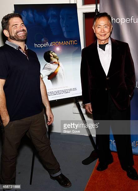 Matt Zarley and George Takei attend Matt Zarley's Original Musical Short Film hopefulROMANTIC at American Film Institute on November 9 2014 in Los...