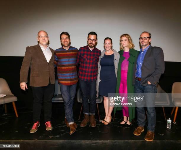 Matt Zoller Seitz Christopher Rogers Christopher Cantwell Melissa Bernstein Mackenzie Davis and Toby Huss attend The 'Halt And Catch Fire' Screening...